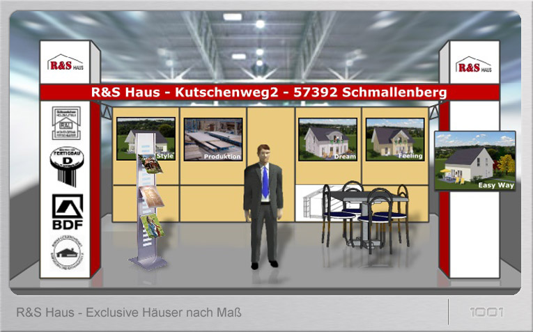 Messestand R&S Haus