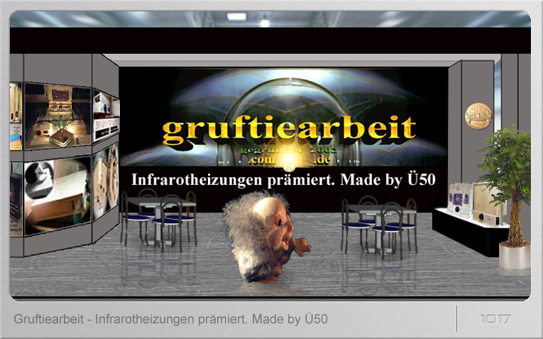Messestand Gruftiearbeit